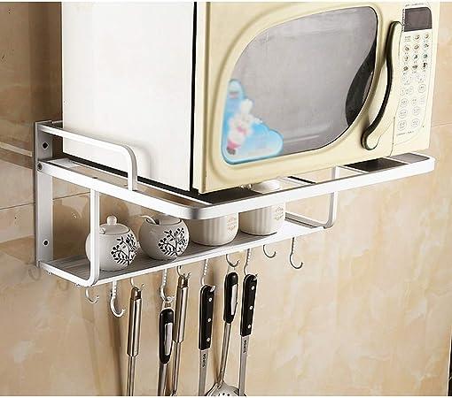 MMD Microondas Horno de Carro estantes de la Cocina de microondas del Soporte del Estante Ajustable Horno eléctrico en Rack Accesorios de Cocina (Color : C): Amazon.es: Hogar