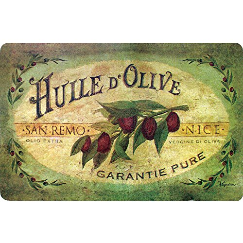 Apache Mills Cushion Comfort Vintage Olive Oil Kitchen Mat, 18-Inch by 30-Inch
