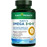 "Omega 3-6-9 Vegan/Vegetarian Omega Formula | ""5 IN 1"" Essential Fatty Acid Complex 
