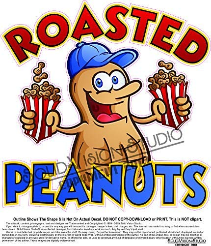 Amazon com: Roasted Peanuts Die Cut Concession Food Truck Hot Dog