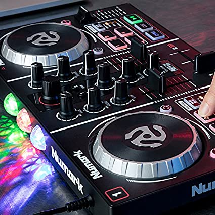 numark Party Mix Starter DJ Controller with Built In Sound Card /& Light Show /& Virtual LE Software 2 x 12.80 x 7.75
