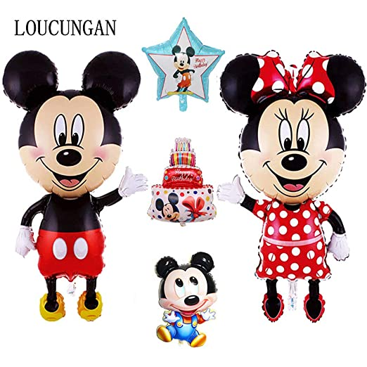 Uniqus - Globo de Mickey Mouse (114 cm), diseño de Minnie ...