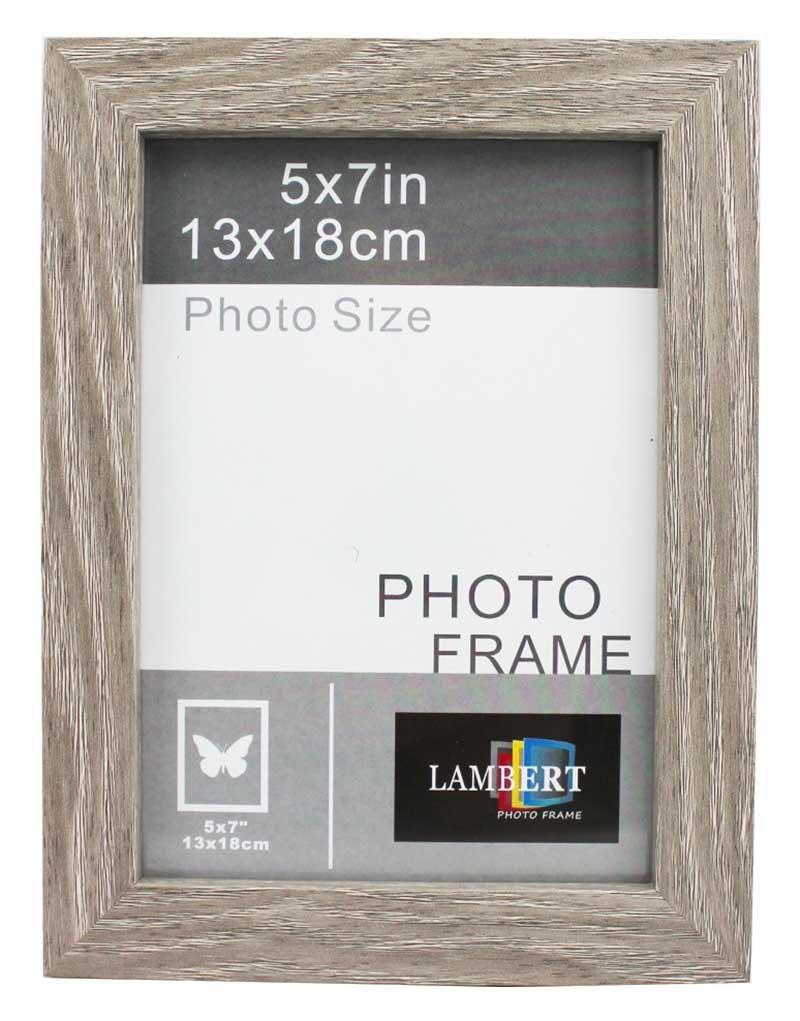 . Amazon com   Lambert MDF Wood Picture Frame 8  X 10   Grey