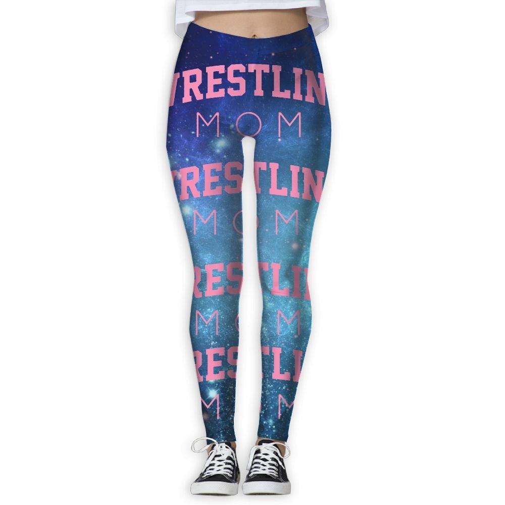 WomensPowerYogaPants Wrestling Mom Mothers Day Gift Women's Yoga Pants Fitness Power Flex Leggings Digital Printed