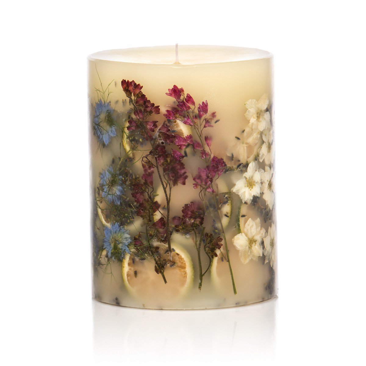 Rosy Rings Round Botanical Candle - Roman Lavender