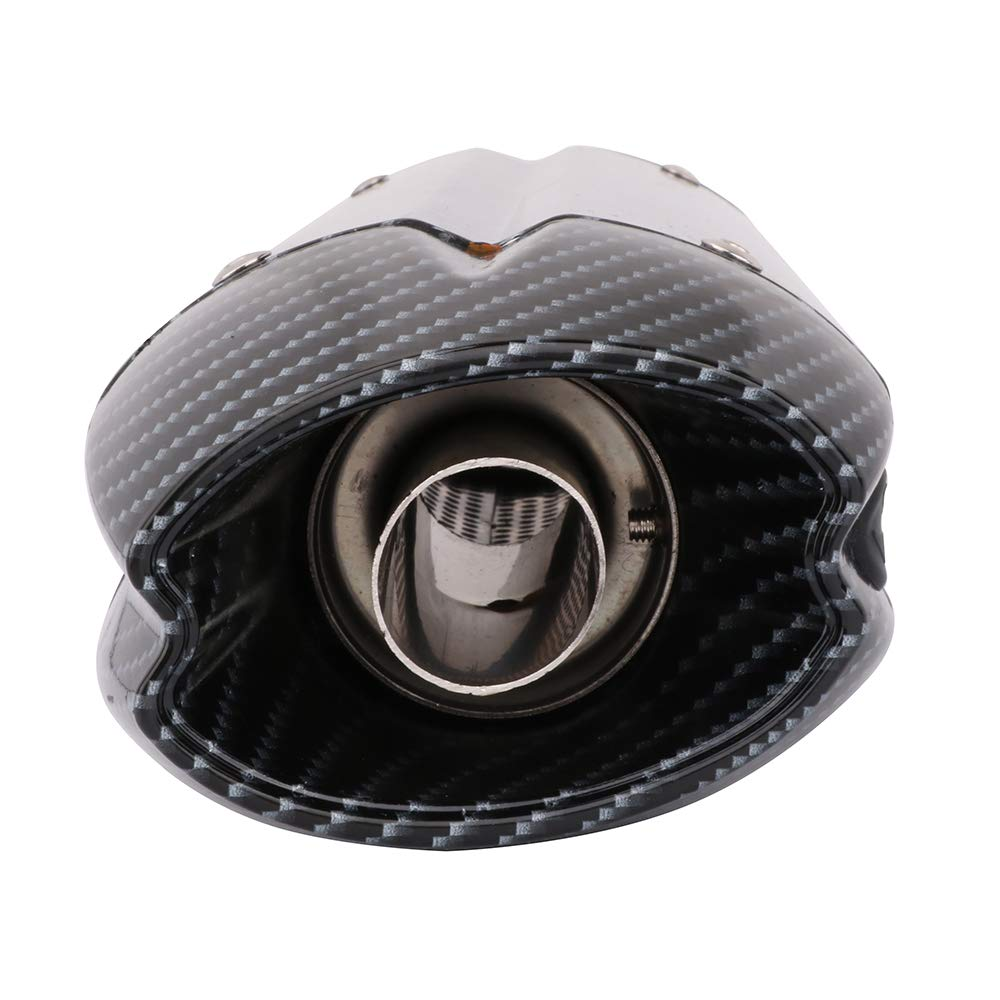 Motorcycle Exhaust Slip on Muffler 38-51MM Carbon Fiber Universal Motorcycle Exhaust Pipe With Removable DB Killer For ATV Scooter Dirt Pit Bike Yamaha BMW DUCATI HONDA KAWASAKI Ninja SUZUKI