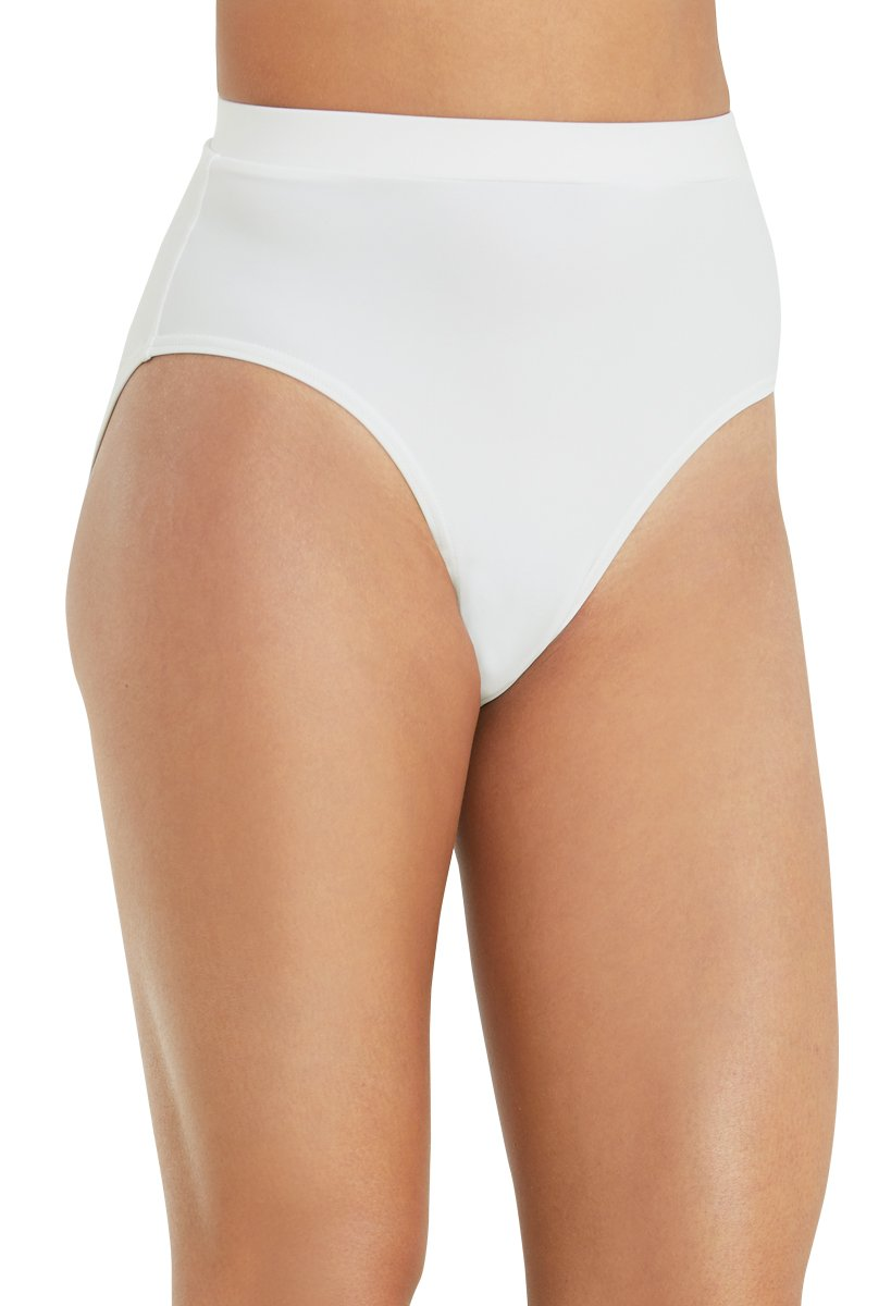 Balera Briefs Girls for Dance Womens Trunks Natural Rise Waist Bloomers White Adult X-Large by Balera