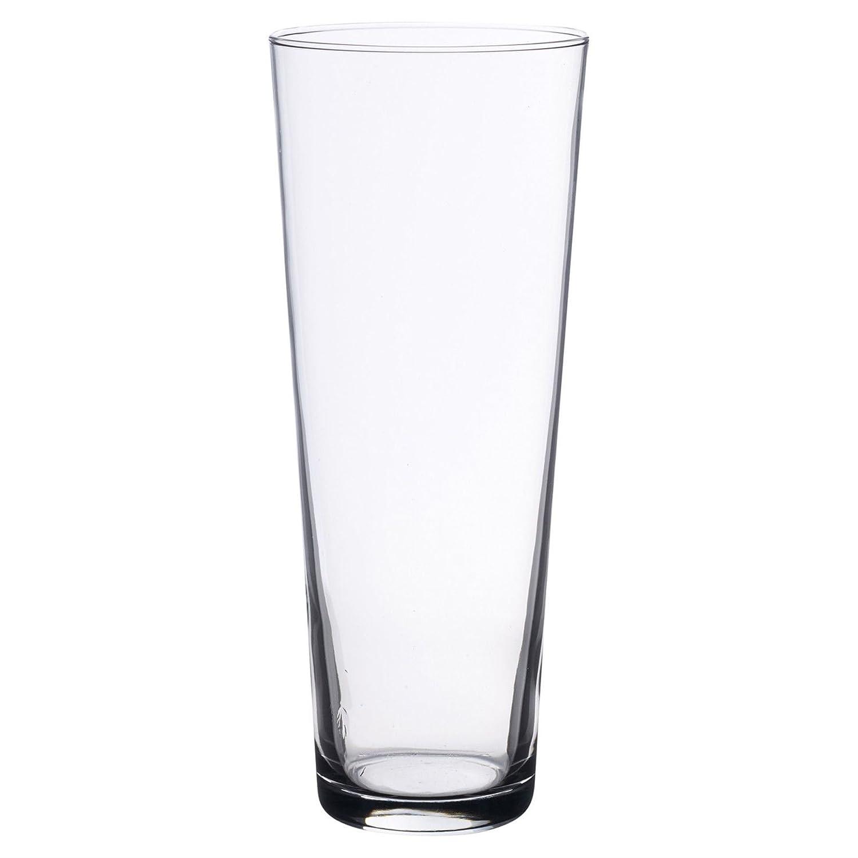 1 x Simpa® Botanica Clear Glass Vase Bouquet Shaped Contemporary Glass Vase for Floral Arrangements 26cm Height 10cm Diameter - High Quality Design