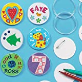 Design Your Own Badge (Pack Of 10) For Kids To Decorate and Kids Party Bag Fillers