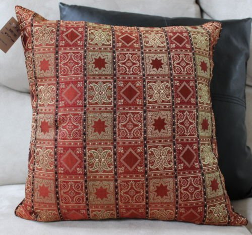 The Pecan Man Burgandy Pillow Accent Decorative Designer Cover Home Decorator Indian 16X16