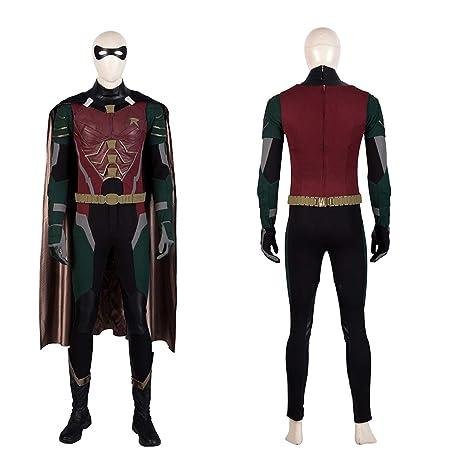 QWEASZER Disfraz de Batman Robin para Adultos PS4 Superhéroe ...