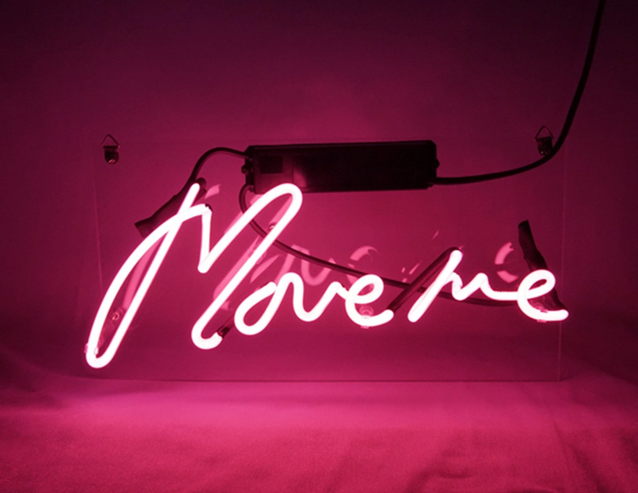 New Neon Sign Pink 'Move Me' Cool Led Lamp Light Decoration 12.6'' x 6.7'' For Home Beer bar Pub Hotel Beach Recreational Game Room