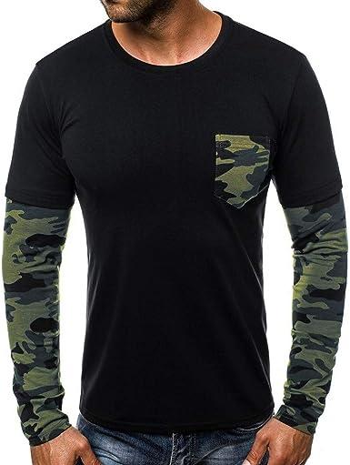 Hombre Suéter Cuello Redondo Sudadera Camo Moda Jersey Térmica Otoño Invierno Camisetas Camisas Sudadera para Hombre Jerseys Sudaderas Camisas Manga Larga Militar Camisetas Tops Otoño Invierno BuyO: Amazon.es: Ropa y accesorios