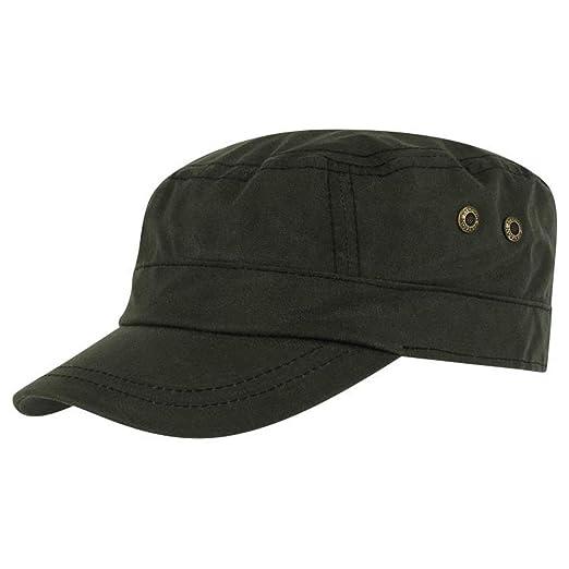 90075dd253b Stetson Austin Waxed Cotton Military Cap at Amazon Men s Clothing store