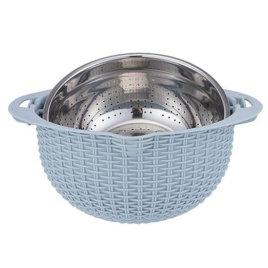 Bandeja de lavavajillas de doble capa de vajilla de acero ...
