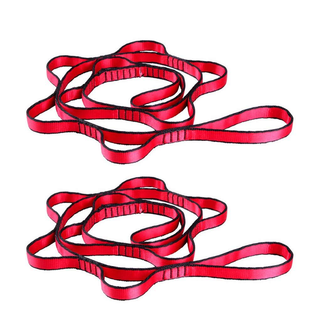 BulzEU 2 x starke Klettergurte, verstellbare Gurte, Seil, starke Verkettung, Bergsteigen, Sicherheitsschlaufe, Riemen, Kette, Yoga, Verlängerungsgurt grau