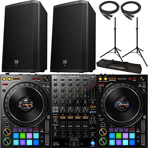 (Pioneer DDJ-1000 rekordbox DJ Controller with 2x Electro Voice ZLX-12P Speaker and Accessories)