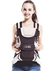 Adjustable Baby Carrier Backpack 4 Positions Pouch Bag Wrap Soft Structured Ergonomic Design for Newborn Baby Infant Toddlers (Grey)