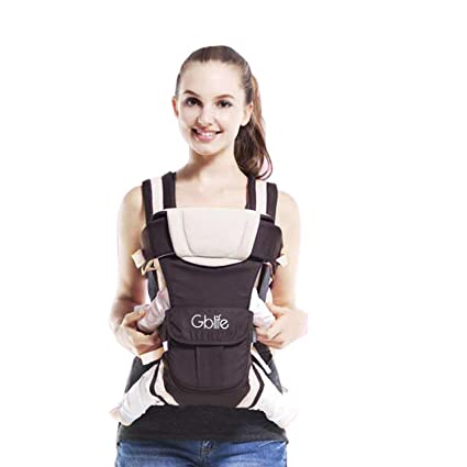 80dc75824b7 Adjustable Baby Carrier Backpack 4 Positions Pouch Bag Wrap Soft Structured  Ergonomic Design for Newborn Baby Infant Toddlers (Grey)  Amazon.co.uk  Baby