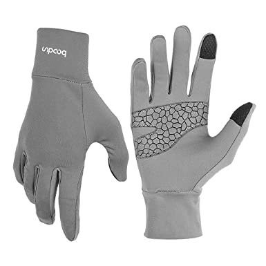 0c2ceadd393fe ELEPHANT DANCING Unisex Non-Slip Touchscreen Gloves Winter Sports Warm  Gloves, Gray