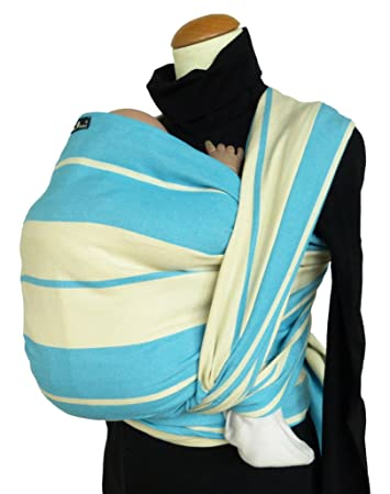 a71ab7cea65 Amazon.com   DIDYMOS Woven Wrap Baby Carrier Standard Stripes Turquoise  (Organic Cotton)