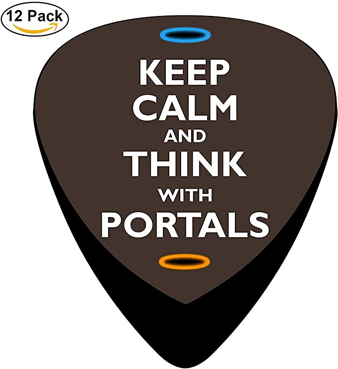 Keep Calm and Think with Portals Celluloid Guitar Picks Unique Music Gifts: Amazon.es: Instrumentos musicales