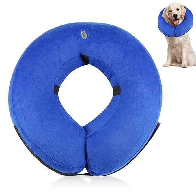 Rhww Collar De Perros Inflables De ProteccióN Suave Mascota RecuperacióN E-Collar Cono Para PequeñA Medio Grande Perros Los Gatos Evitar Mascotas Desde ...