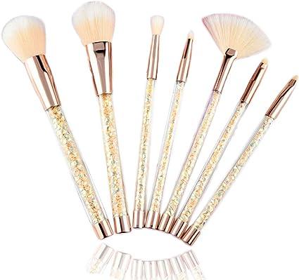 7- pack paquete de maquillaje Set de cepillos maquillaje suave ...