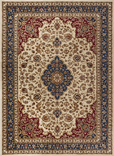 Ivory Turkish Rug (Kirsten Traditional Oriental Ivory Rectangle Area Rug, 9' x 12')