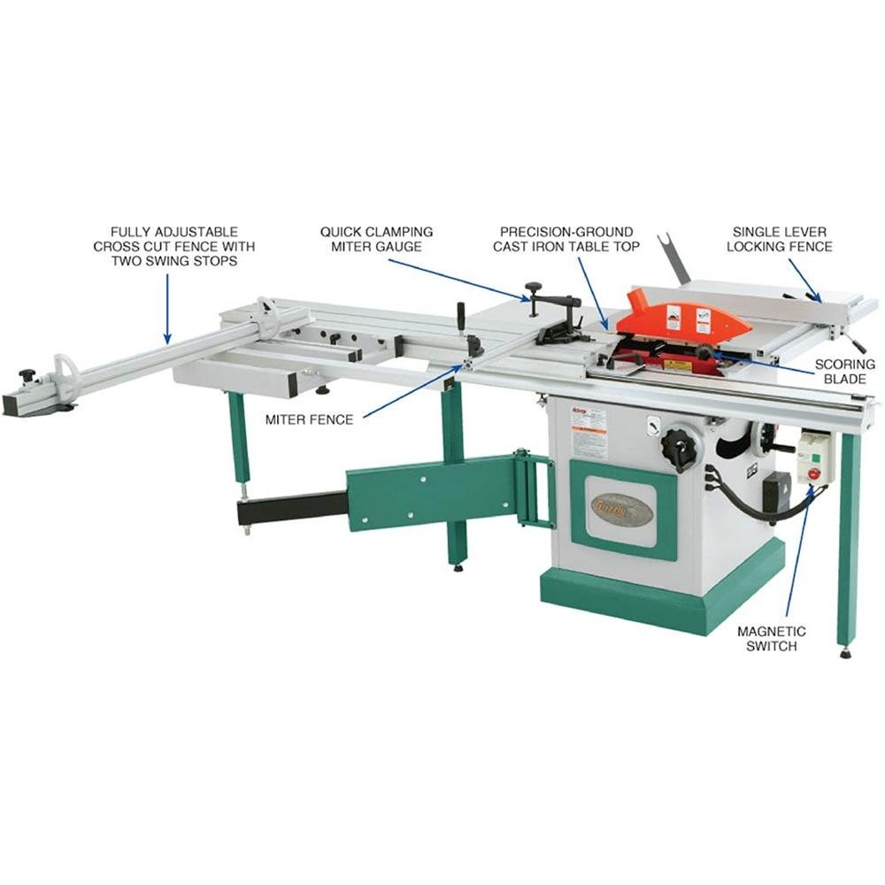 Grizzly G0623X Sliding Table Saw, 10 Inch   Power Table Saws   Amazon.com