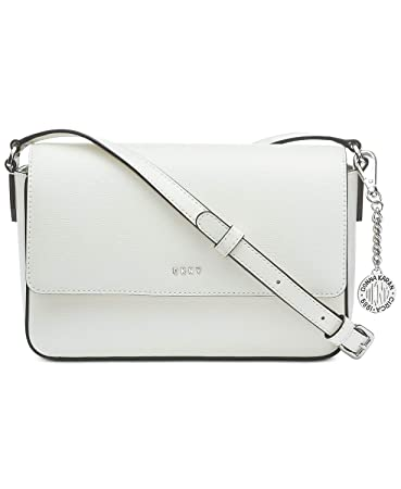 1f0be71ca60 Amazon.com  DKNY Saffiano Leather Bryant Flap Crossbody (White)  Wholesale  Fashions