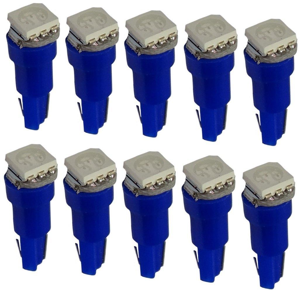 10 x lampadina T5 24V LED SMD luce blu per cruscotto camion peso pesante . Aerzetix