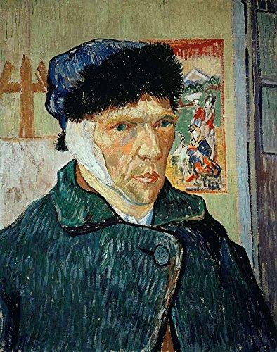 Van Gogh 包帯耳付きセルフPortpait Self Portpait With Bandaged Ear キャンバス複製画 30X40cm 肖像画 絵画 完全に立体に複製 3D 印刷 美術品 部屋 壁掛けの商品画像