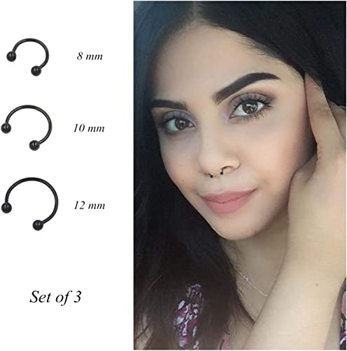 Amazon Com Pamido Bull Nose Ring Horseshoe Hoop Nose Rings