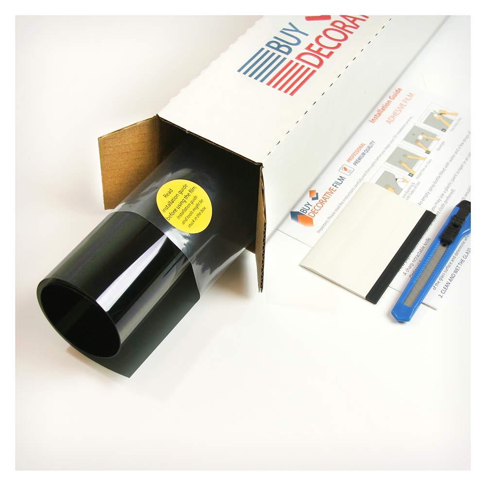 Buydecorativefilm BDF EZGL Easy Cling Glare Control Window Film, Black - 48in X 12ft by Buydecorativefilm