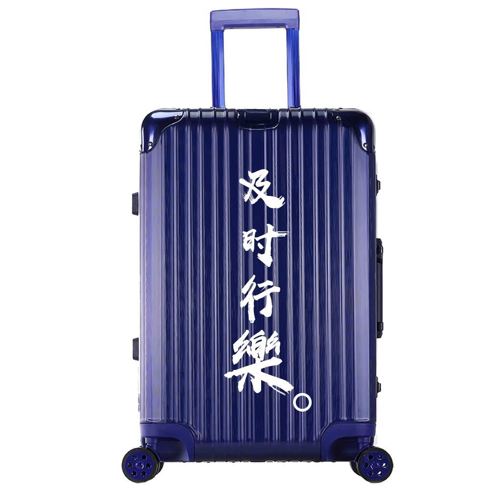 トロリーケース - ABS/PC、TSA税関コードロック、起毛面、学生個性アルミフレーム旅行大容量トロリーケース - 5パターンカラーオプション (色 : Blue - Timely)  Blue - Timely B07MTYD72J
