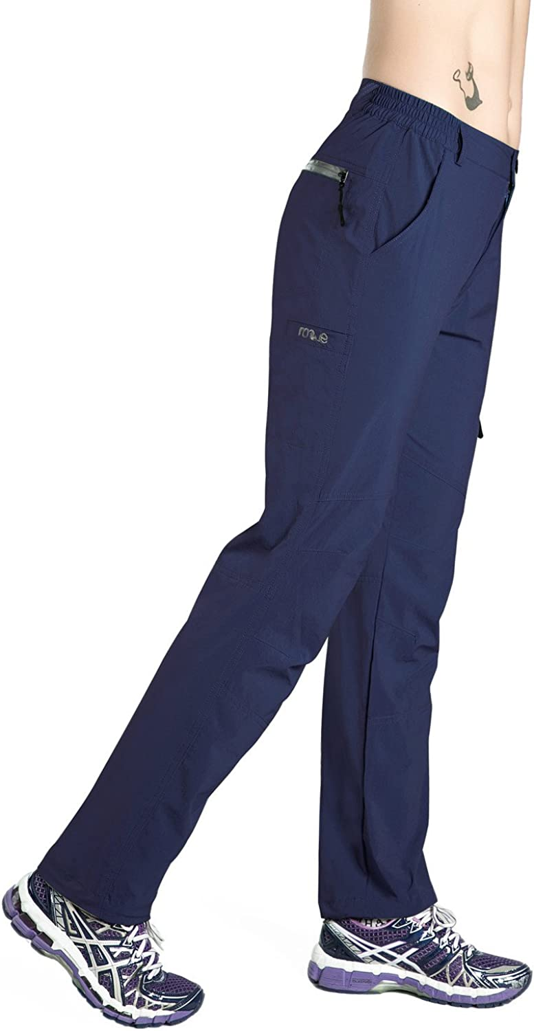 Nonwe Womens Quick Drying Lightweight Hiking Pants with Drawstring Hem