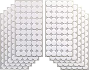 """Vkey 500pcs (250 Pair Sets) 3/4"""" Diameter Sticky Back Coins Self Adhesive Hook and Loop Dots Tapes White-Delivery by FBA"""