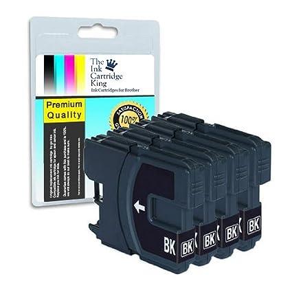 4 x cartuchos de tinta negra LC985 para impresoras brother ...