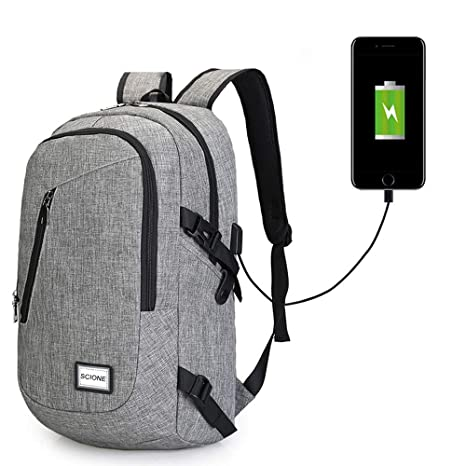 Image Unavailable. Image not available for. Color  Men s Canvas Waterproof  Backpack for Teenage Students School Bags Male USB Charging Travel Bag ... 0071ed63cabf2