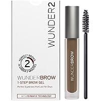 WUNDER2 WUNDERBROW Long Lasting Eyebrow Gel for Waterproof Eyebrow Makeup, Brunette Color