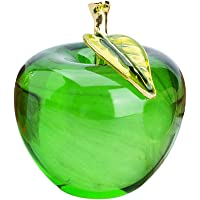 H&D Glaze Crystal Apple Paperweight Craft Decoration (green)