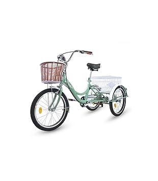Riscko Triciclo Adulto con Dos Cestas Bep-14 Negro Sin Montaje 32 kg