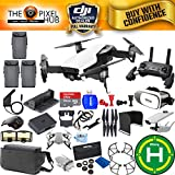 DJI Mavic Air Fly More Combo MEGA Accessory Bundle With Filter Kit, Landing Pad, 64GB Micro SD, VR Glagges, Charging Hub + Much More (Arctic White)