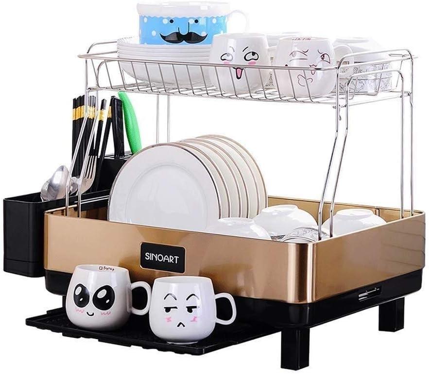 LDD キッチンラック キッチンラック スイベル-Proofステンレス、グレーのプラスチックでシンプルなキッチンコンパクトなスチールフレームの食器棚