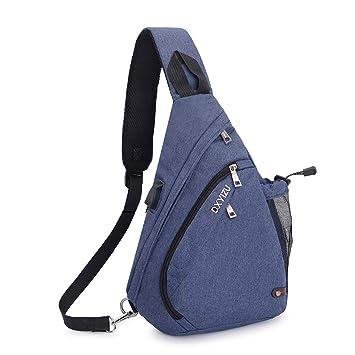 00cb49b14 SINOKAL Pecho Mochila Bolso Pecho Casual Bandolera Hombro triángulo  Paquetes Daypacks para Hombres Mujeres (Azul): Amazon.es: Deportes y aire  libre