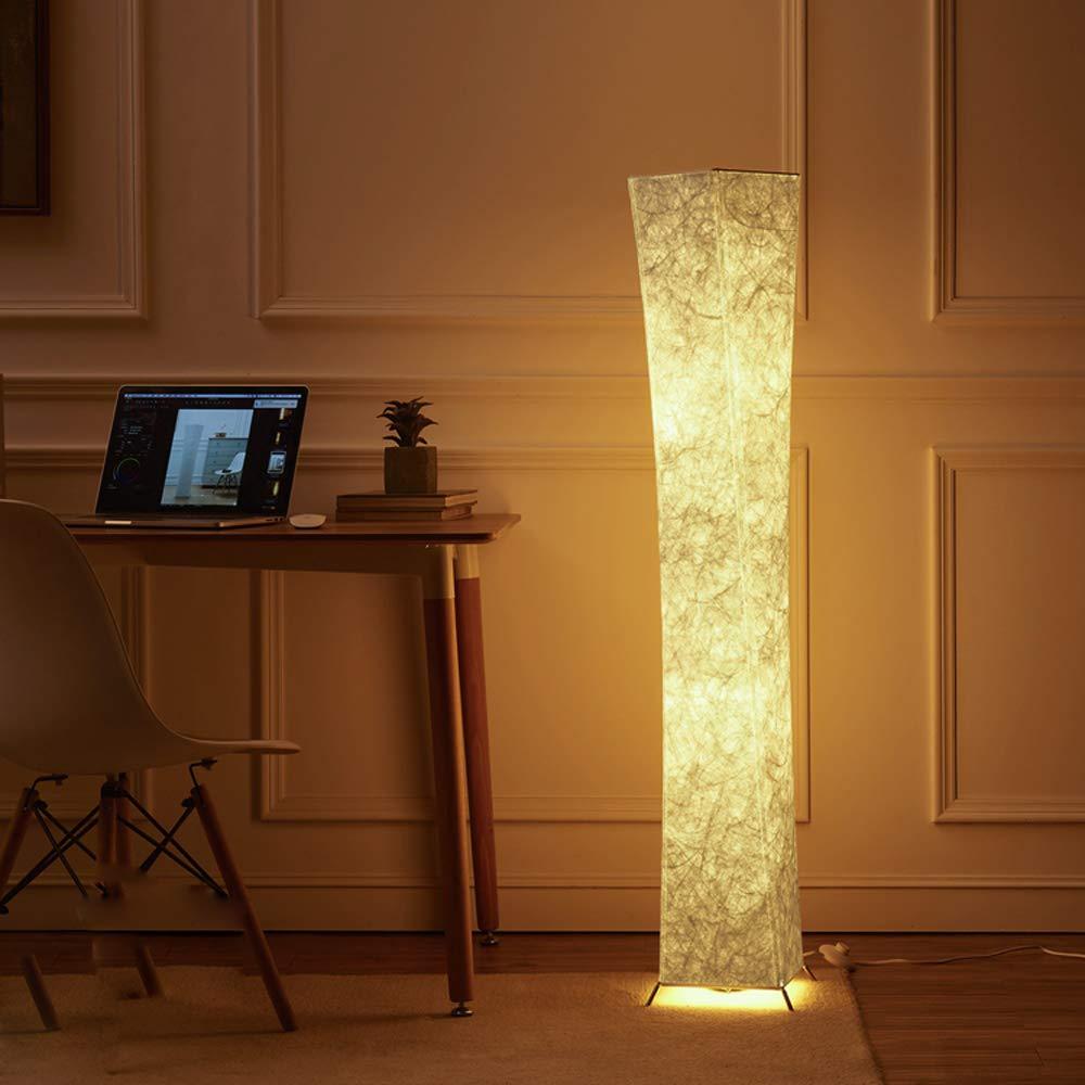 (Deutschland Verteilung)LEONC Kreative Stehleuchte LOUNGE DESIGN STEHLAMPE Bodenlampe Wohnzimmerlamp & 2 Glühbirne 132 x 20cm,Beste Weihnachtsgeschenke (Leinengewebe Stil-2)