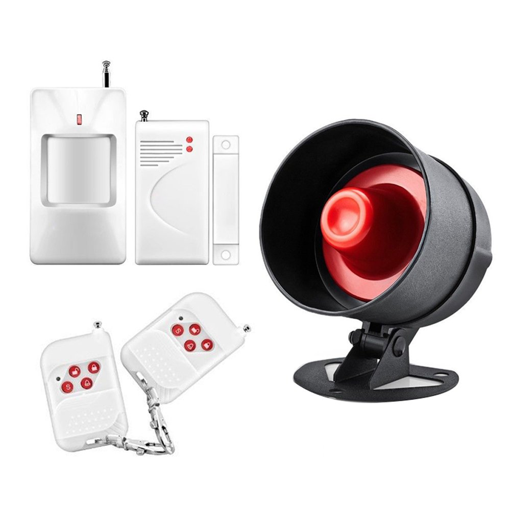 TTnight Home Security System Security Alarm System Kit Wireless Home House Security Burglar Alarm Siren System 110dB 433MHz