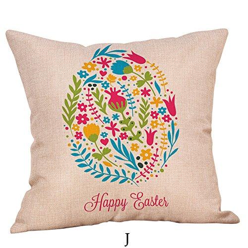 Pillow Cases Kingon Sale,Couch Cushion Cover,Happy Easter Pillow Cases Linen Sofa Cushion Cover Home Decor Pillow Case