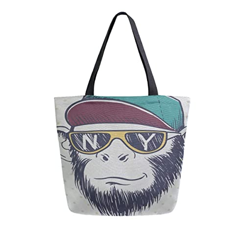 Cool Monkey Chimpanzee King Of Forest Animal Portatil Bolsas ...